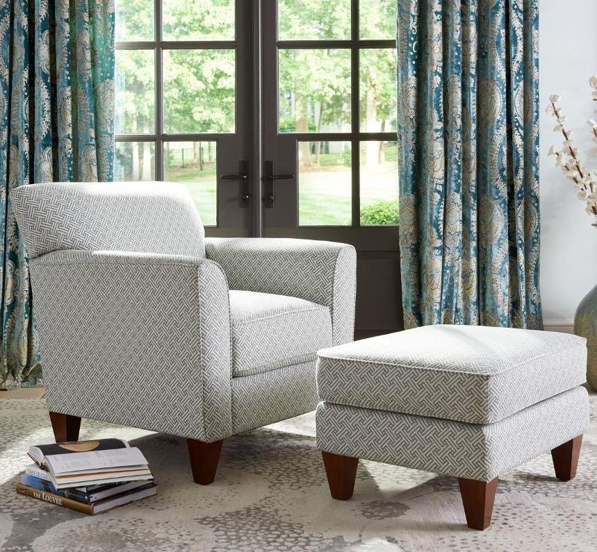 Chairs Allegra Chair & Ottoman by La-Z-Boy at Jordan's Home Furnishings