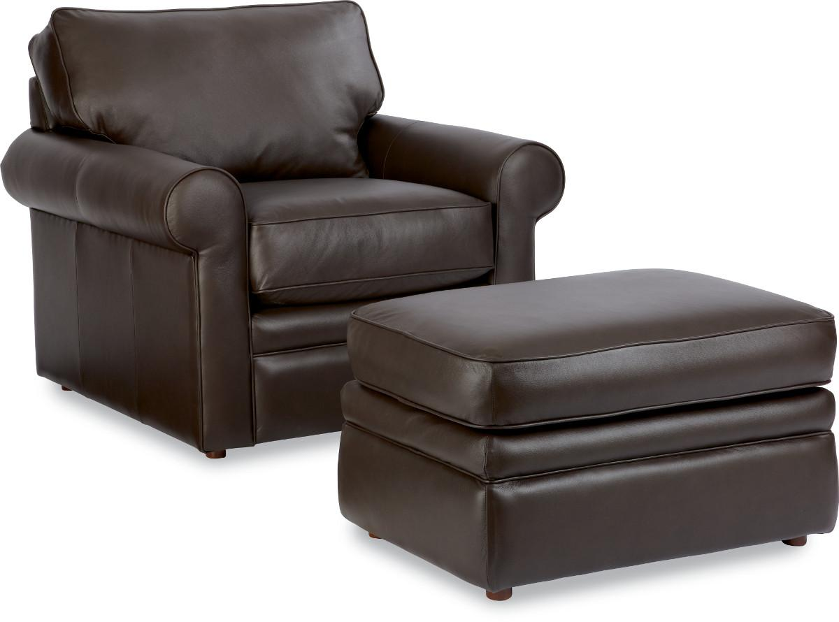 La Z Boy Collins Chair With Rolled Arms Amp Ottoman Godby
