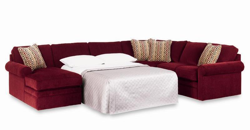 La-Z-Boy Collins Sectional Sleeper Sofa with Full Mattress - Zaku0026#39;s Fine Furniture - Sectional Sofas