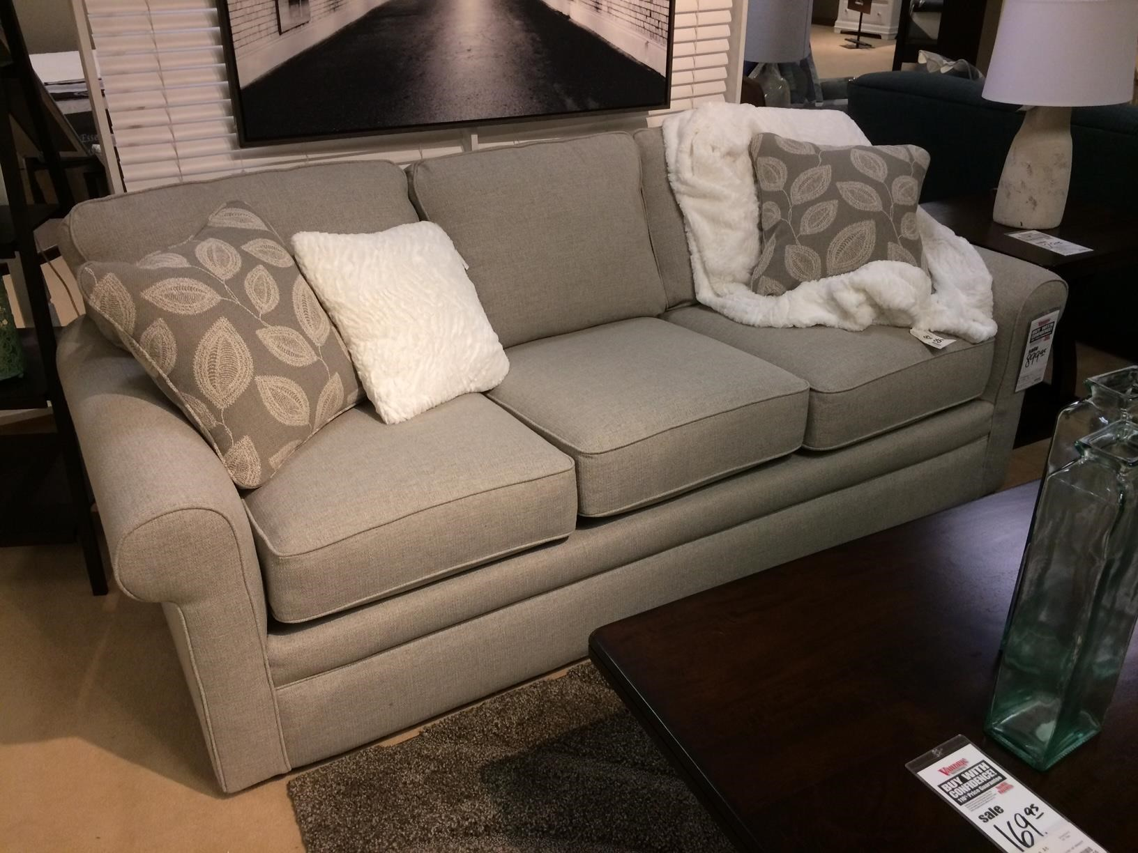 La Z Boy Collins Sofa With Rolled Arms Vandrie Home Furnishings Sofas
