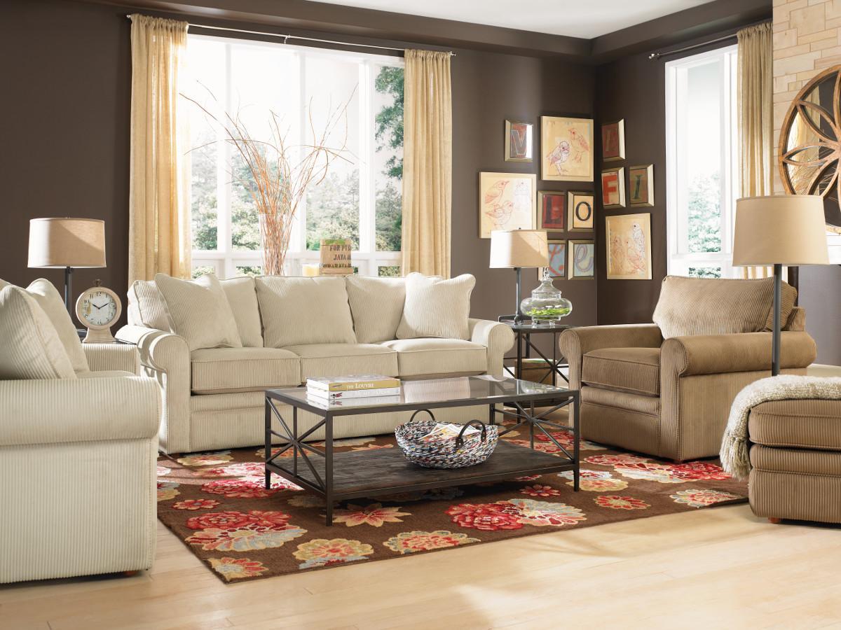 La z boy collins sofa with rolled arms morris home sofas for La z boy living room set