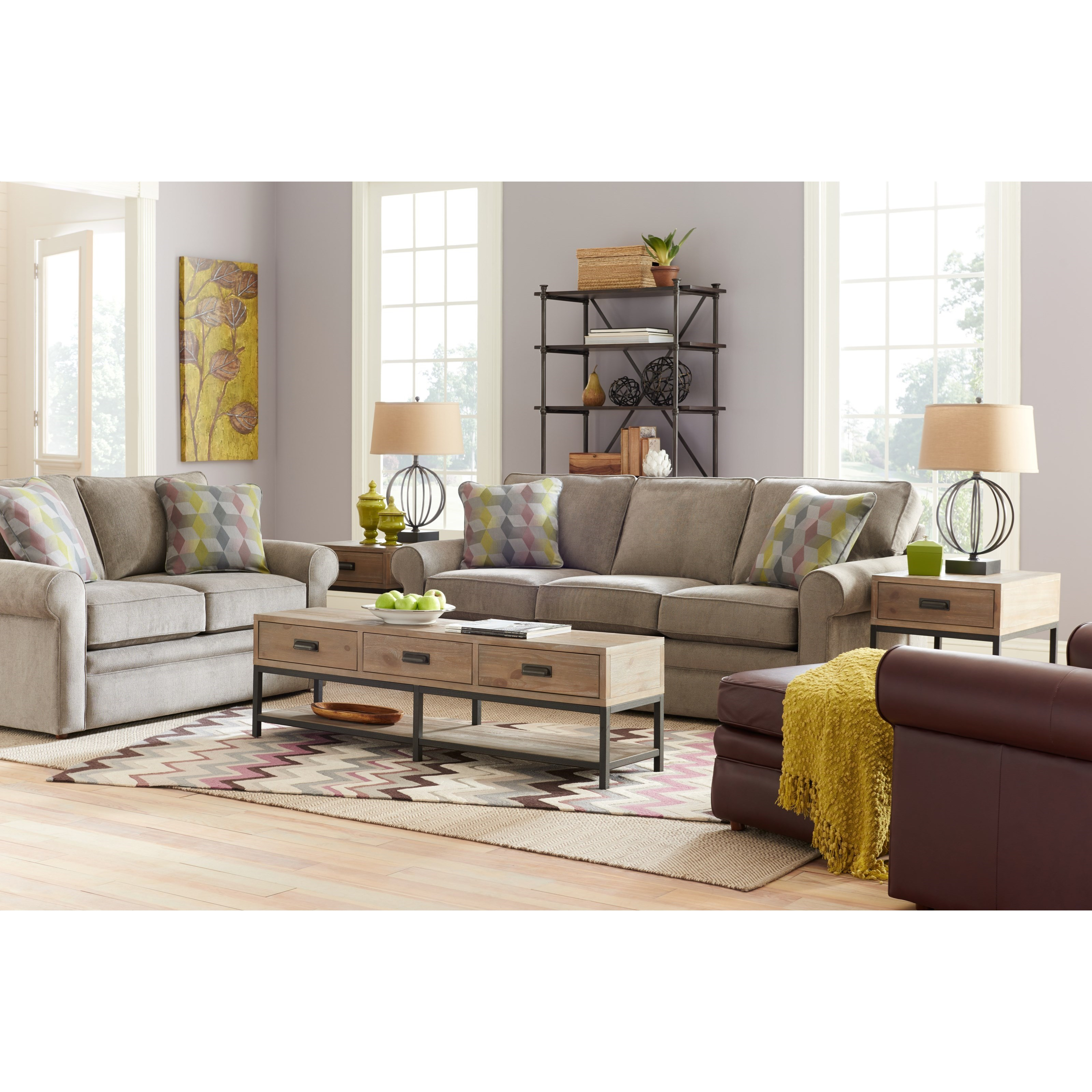La Z Boy Collins Loveseat With Rolled Arms Bennett 39 S
