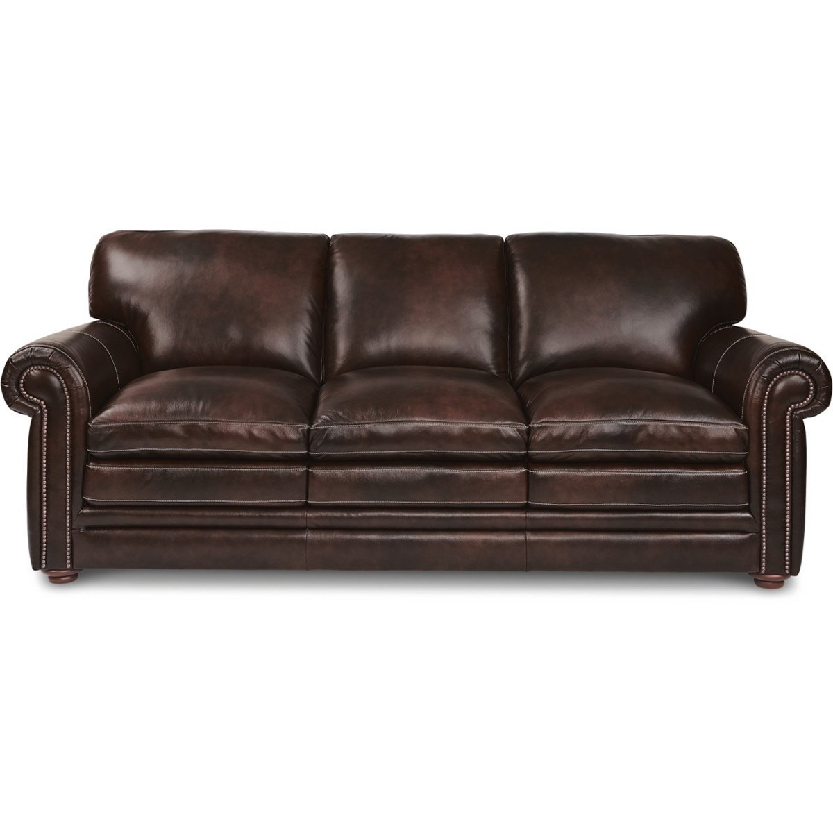 lazboy conway traditional sofa with rolled arms