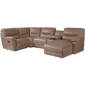 5 Pc Reclining Sectional Sofa w/ LAS Chaise