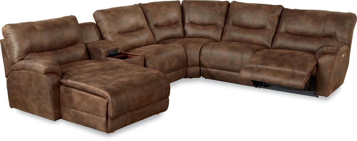 Dawson Casual Six Piece Reclining Sectional Sofa With Las