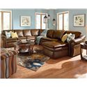 La-Z-Boy Devon  5 Piece Reclining Sectional Sofa - Item Number: 04Q420+4MM+04C+40S+40E E122676
