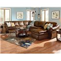 La-Z-Boy Devon  5 Piece Sectional with LAS Chaise and 2 Recliners
