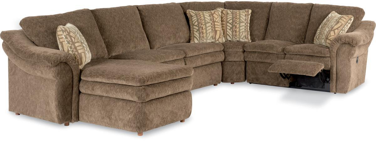 La Z Boy Devon 4 Piece Sectional Sofa With Ras Chaise And