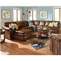 La-Z-Boy Devon  5 Piece Reclining Sectional Sofa - Item Number: 04V420+4MM+04C+40S+40D E122676