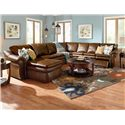 La-Z-Boy Max 5 Piece Power Reclining Sectional with RAS Chaise and 2 Recliners