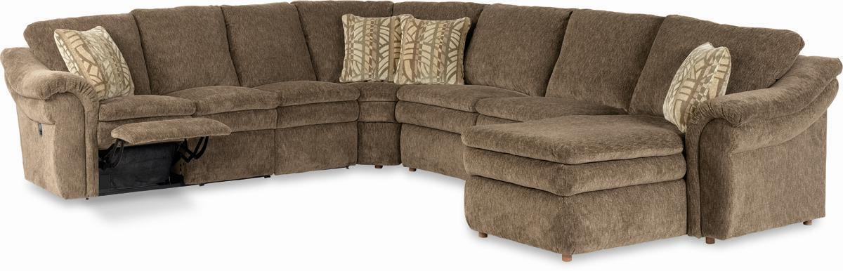 Good La Z Boy Devon 5 Piece Sectional With LAS Chaise And Power Recline Loveseat    AHFA   Reclining Sectional Sofa Dealer Locator Great Pictures