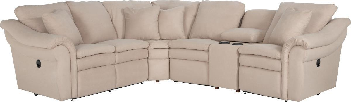 5 Pc Reclining Sectional Sofa w/ Cupholders
