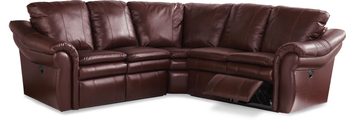 La Z Boy Devon 3 Pc Reclining Corner Sectional Sofa