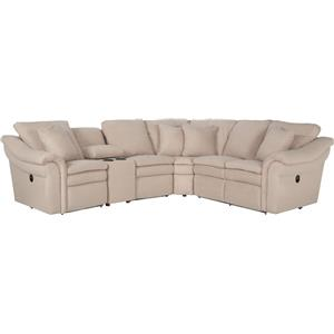 La-Z-Boy Devon 5 Pc Power Reclining Sectional w/ Cupholders  sc 1 st  Morris Furniture & La-Z-Boy Devon 5 Piece Power Reclining Sectional with RAS Chaise ... islam-shia.org