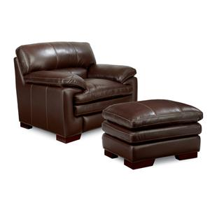 La-Z-Boy Dexter Casual Upholstered Chair and Ottoman Set