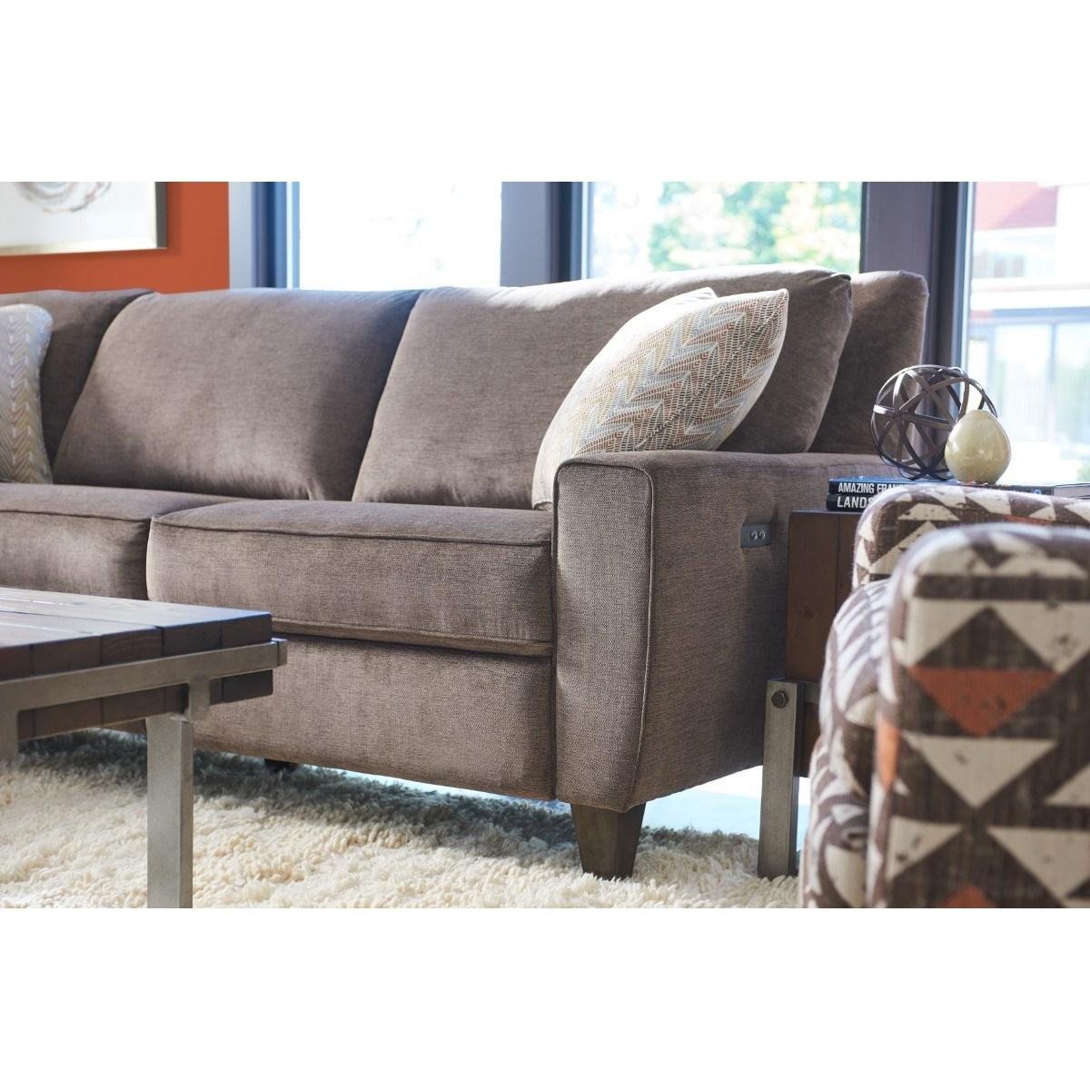La Z Boy Edie Four Piece Power Reclining Sectional Sofa