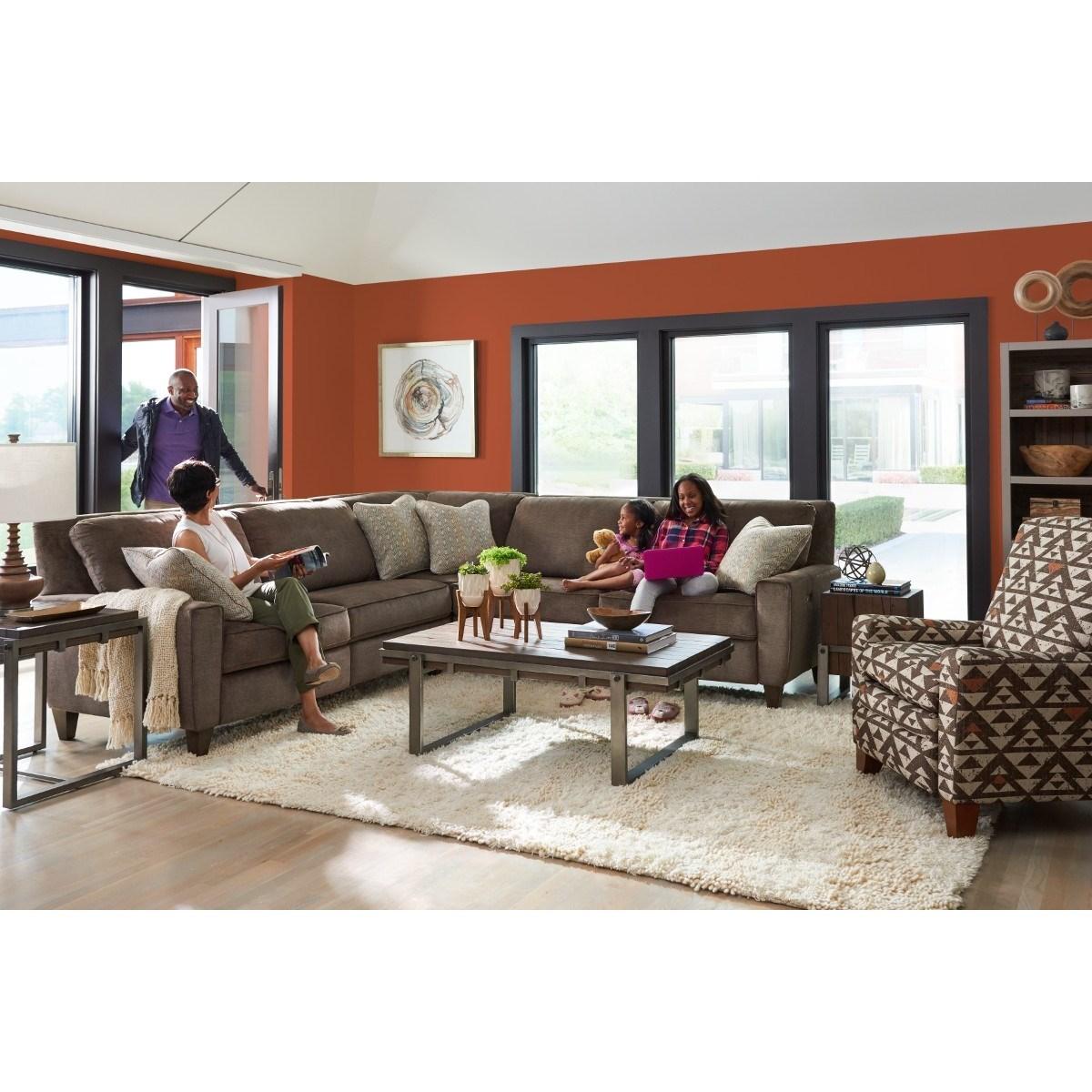 La Z Boy Edie Three Piece Power Reclining Sectional Sofa