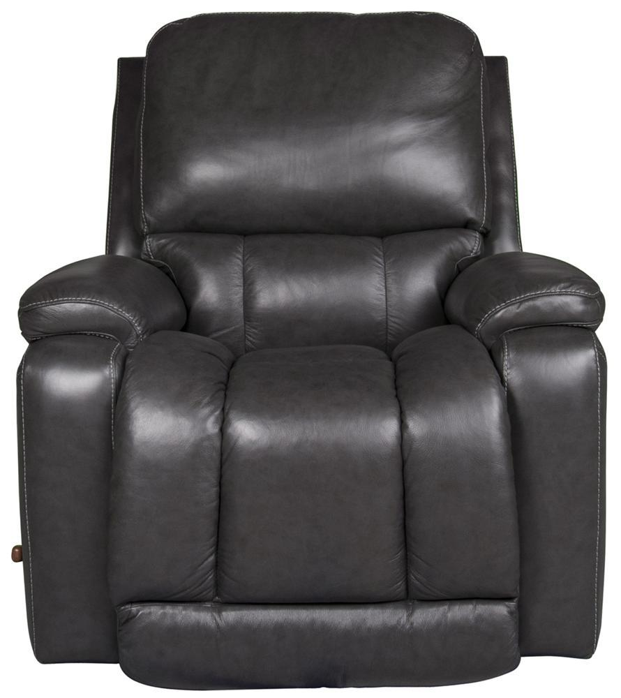 La-Z-Boy Greyson Greyson 100% Leather Rocker Recliner - Item Number: 189858871