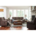 La-Z-Boy Hayes Casual La-Z-Time® Full Reclining Sofa with Channel-Stitched Back