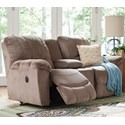 La-Z-Boy Nautilus La-Z-Time® Full Reclining Loveseat w/Console - Item Number: 490537C140867