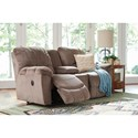 La-Z-Boy Nautilus Casual La-Z-Time® Full Reclining Loveseat w/Console and Channel-Stitched Back