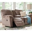 La-Z-Boy Hayes Power La-Z-Time® Loveseat w/ Console - Item Number: 49P537C140867