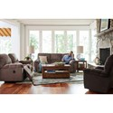 La-Z-Boy Hayes Casual Power La-Z-Time® Full Reclining Loveseat with Middle Console and Channel-Stitched Back