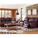 La-Z-Boy Sultry Casual Jace Power La-Z-Time® Loveseat with Bucket Seats and Console