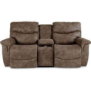 La-Z-Time? Full Reclining Loveseat w/Console