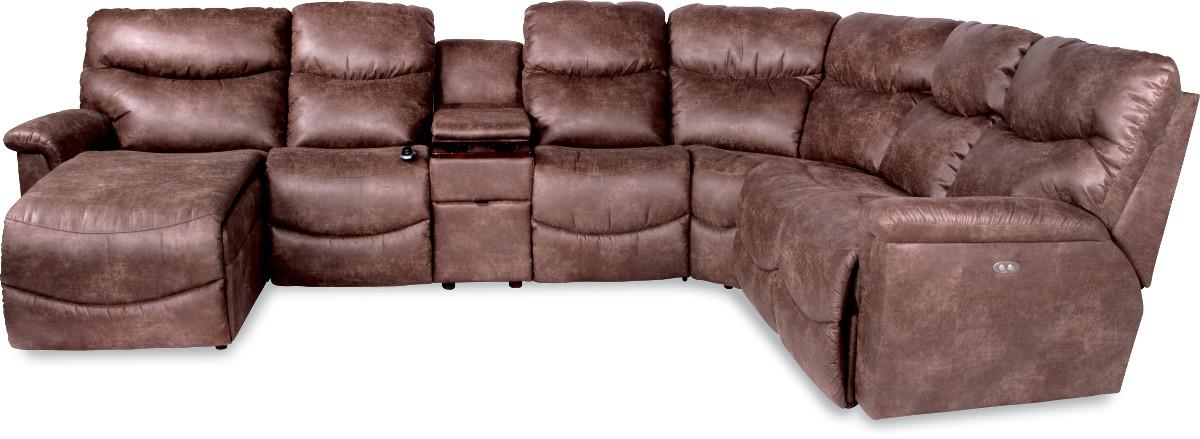 La Z Boy James 6 Pc Pwr Recl Sectional W Ras Chaise