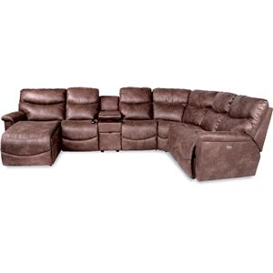 6 Pc Power Reclining Sectional w/ RAS Chaise