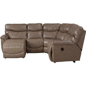 La-Z-Boy James 4 Pc Power Reclining Sectional Sofa  sc 1 st  Adcock Furniture : la z boy leather sectional - Sectionals, Sofas & Couches