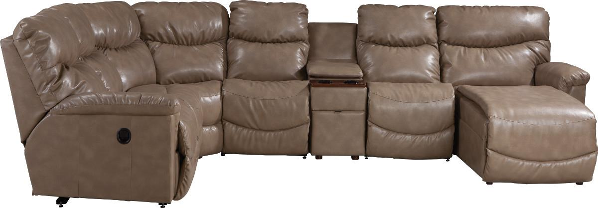 James Six Piece Power Reclining Sectional With Las Chaise