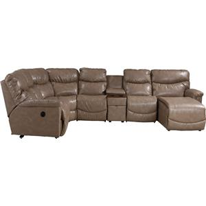 La-Z-Boy James 6 Pc Pwr Recl Sectional w LAS Chaise & Head