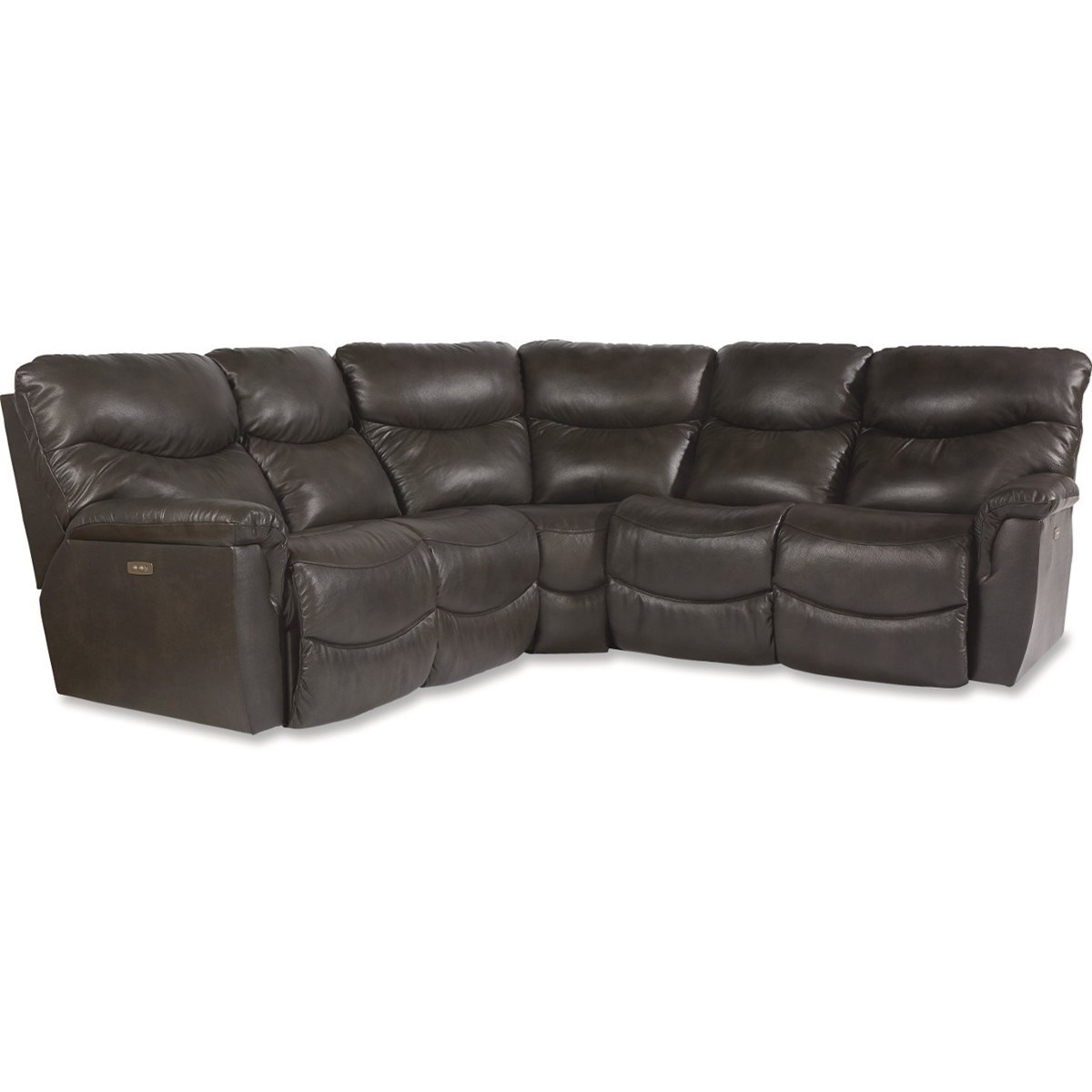 James 3 Pc Power Reclining Sectional Sofa by La-Z-Boy at Reid's Furniture