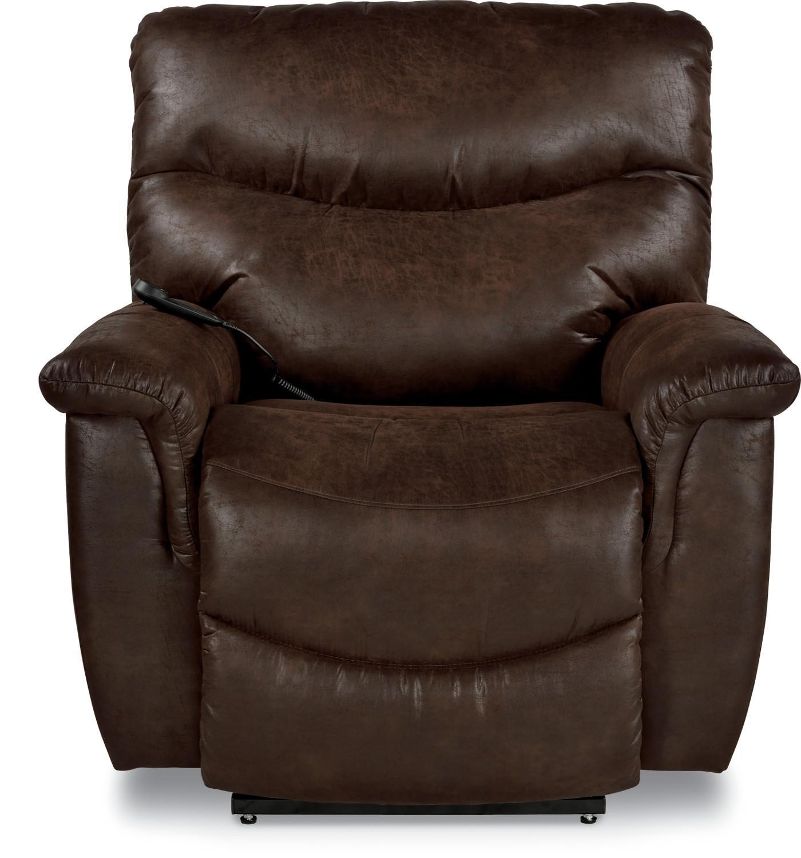 Camo Lift Chair: La-Z-Boy James Casual Silver Luxury Lift® Power Recliner
