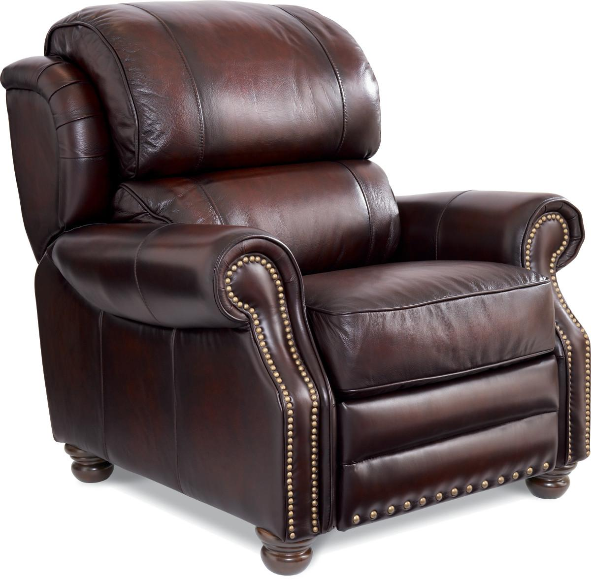 Jamison Traditional High Leg Leather Recliner By La Z Boy