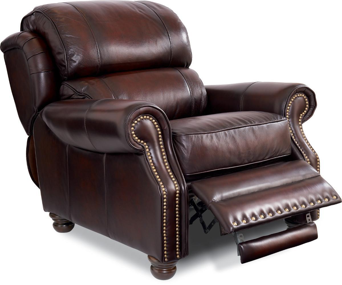 La-Z-Boy JAMISON Traditional High Leg Leather Recliner ...