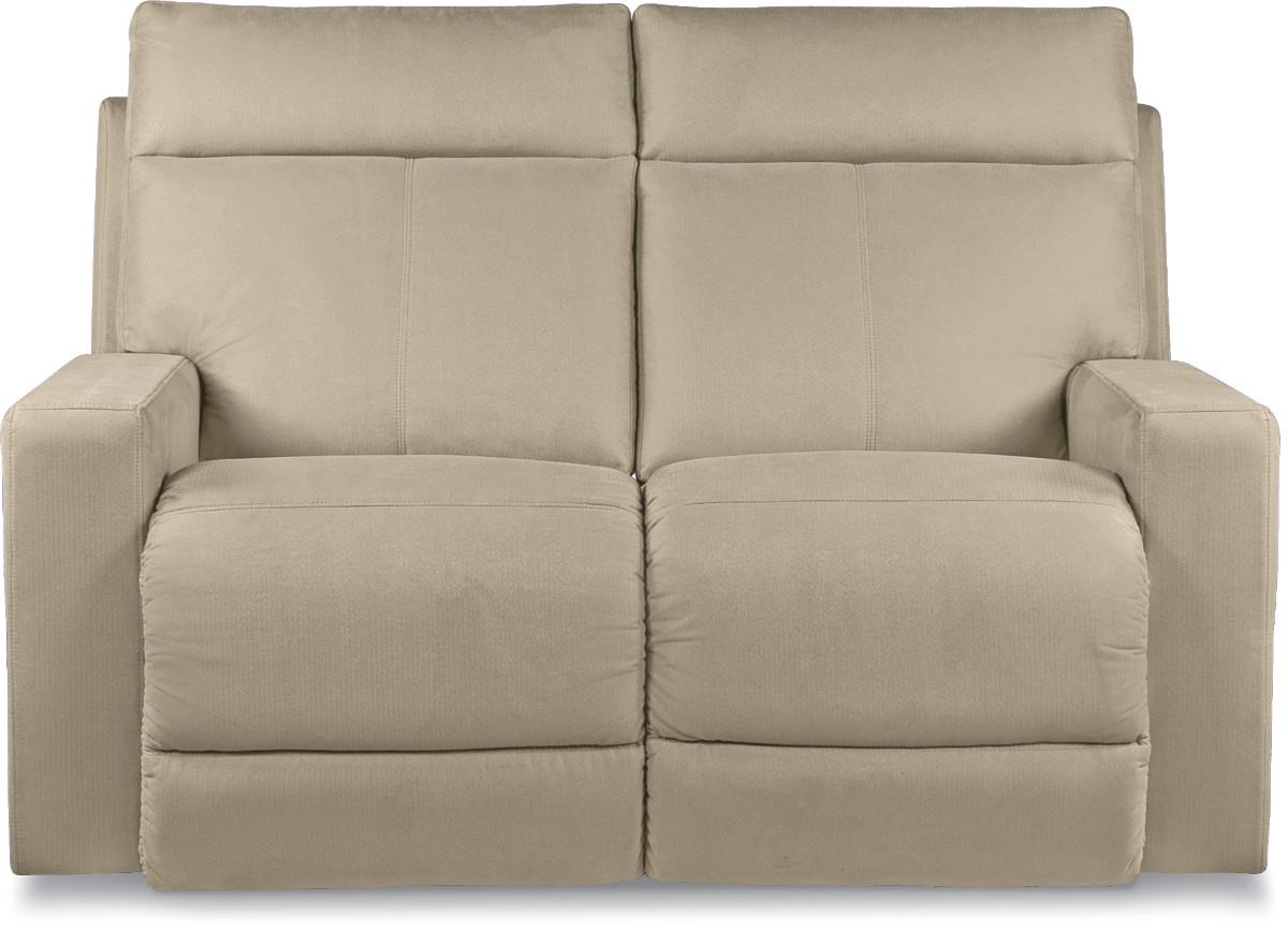 Jax Contemporary Power Reclining Loveseat With Topstitch Detailing By La Z Boy Wolf Furniture