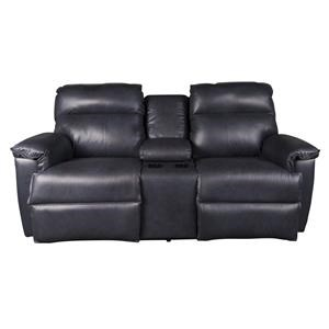 Jay Leather Match Power Loveseat