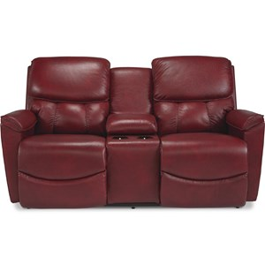Power Reclining Console Loveseat w/ Pwr Head