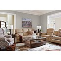 La-Z-Boy Kirkwood Traditional Power-Recline-XRw™ Space Saver Reclining Sofa