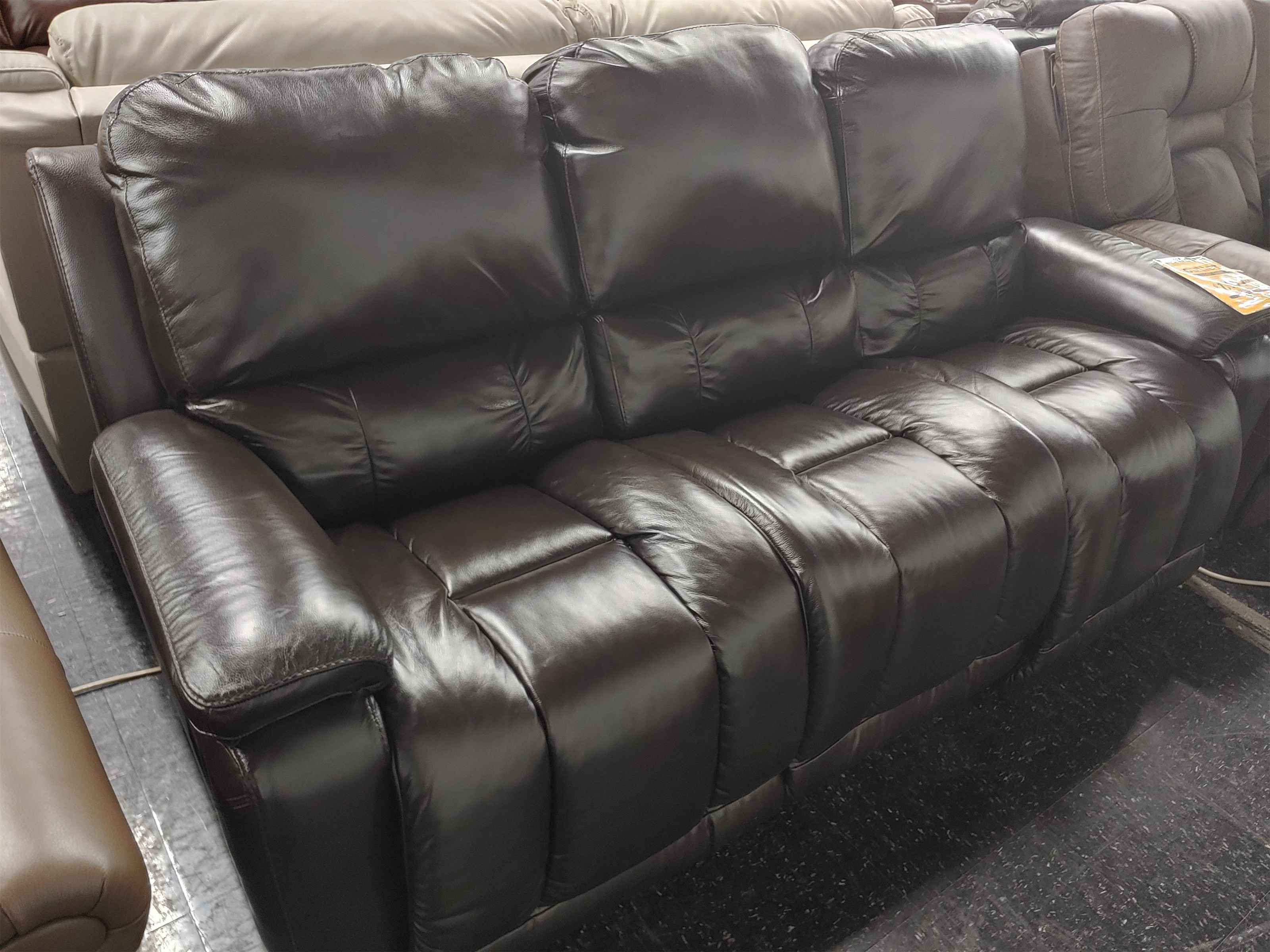 Last One Sofa Last One! Leather Match Power Sofa! by La-Z-Boy at Morris Home