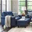 La-Z-Boy Laurel  Oversized Chair with Ottoman - Item Number: 650411+024411D134787