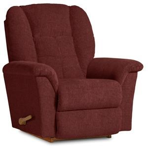 La-Z-Boy Fabric Jasper Merlot Rocker Recliner