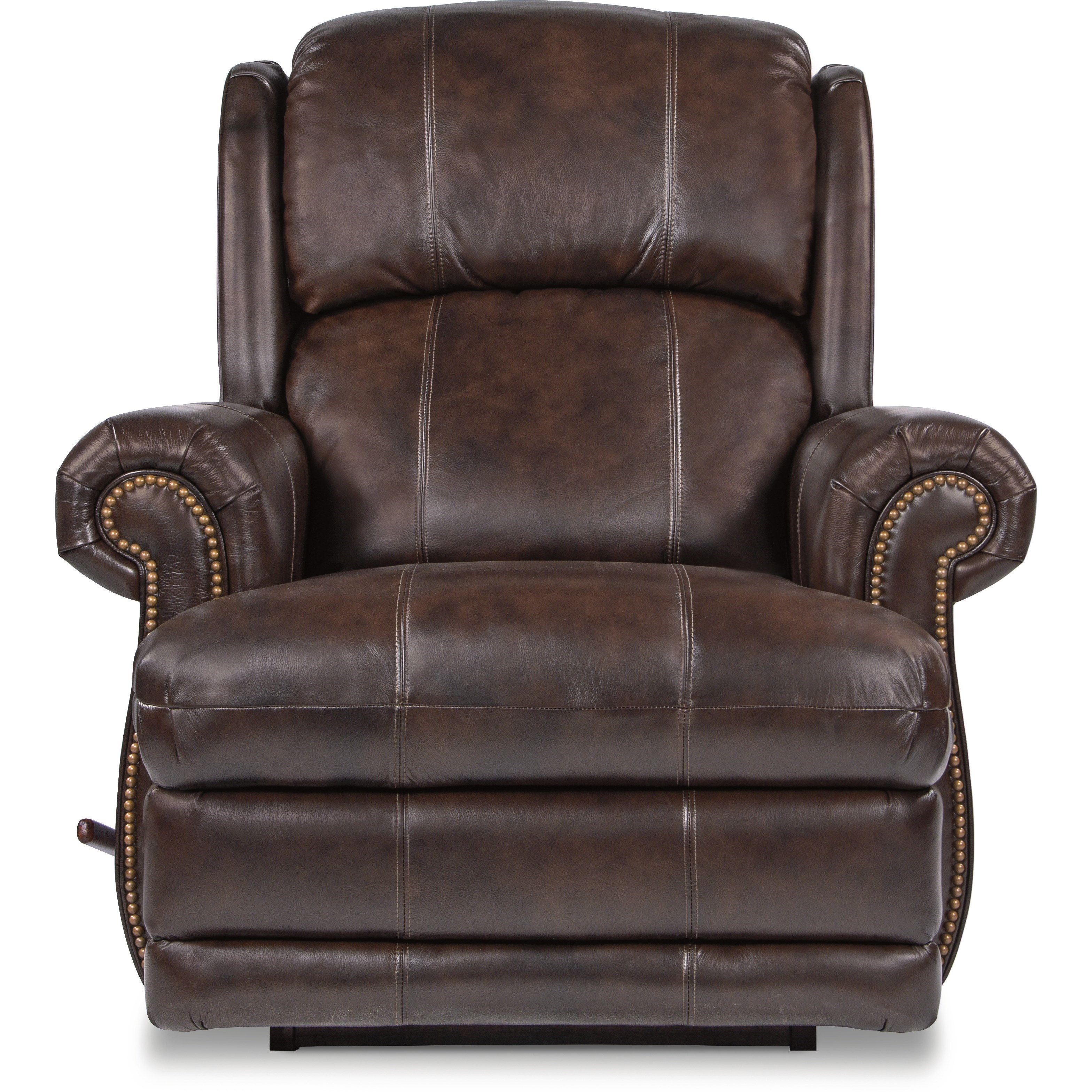 La Z Boy Kirkwood Kirkwood Reclina Glider Swivel Recliner With Nailhead Studs Bennett S Furniture And Mattresses Recliners