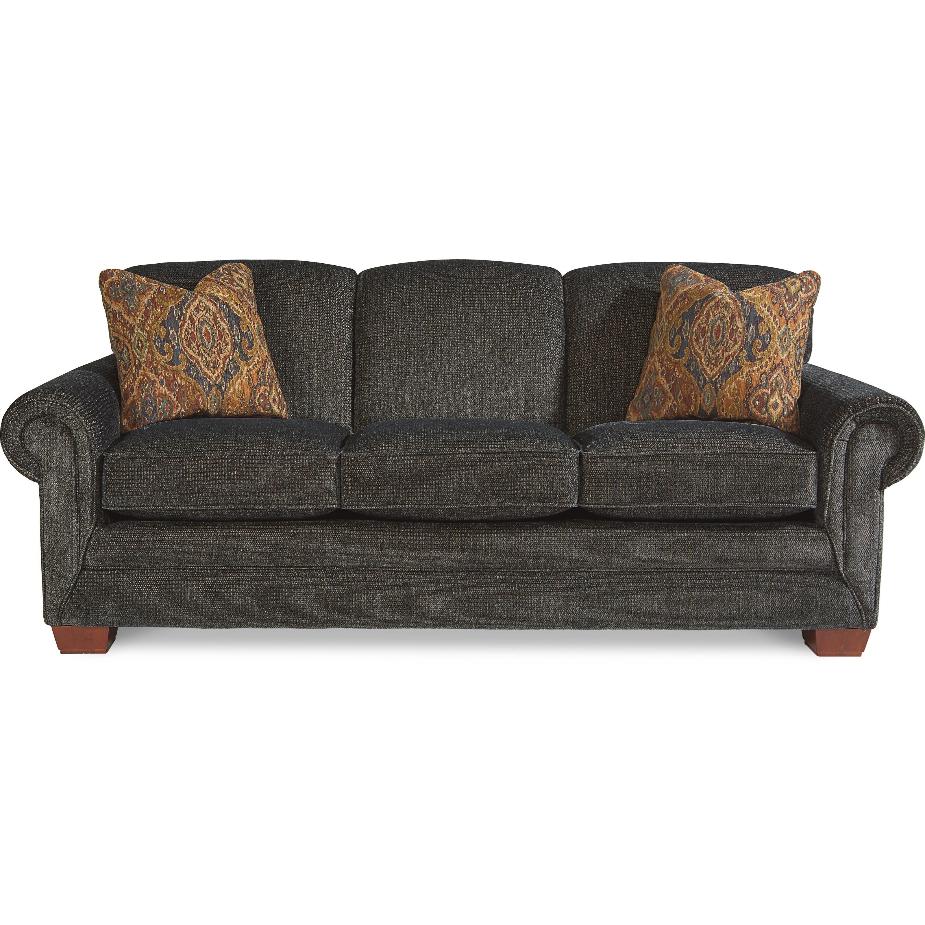La Z Boy Mackenzie Premier Supreme Comfort Queen Sleep Sofa With Slumberair 174 Mattress Lindy S