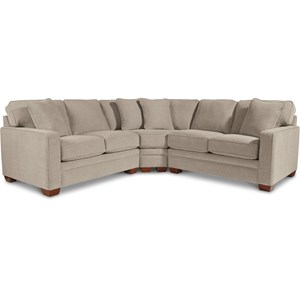 3-Pc Sectional w/ Wedge