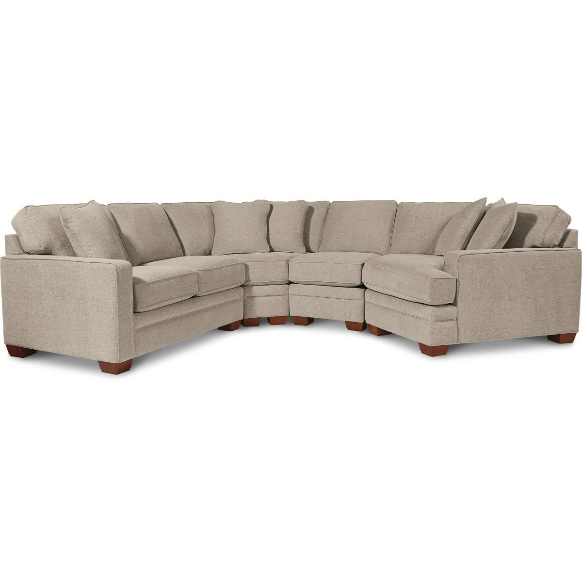 Picture of: La Z Boy Meyer Contemporary 4 Piece Sectional With Left Sitting Cuddler Pedigo Furniture Sectional Sofas