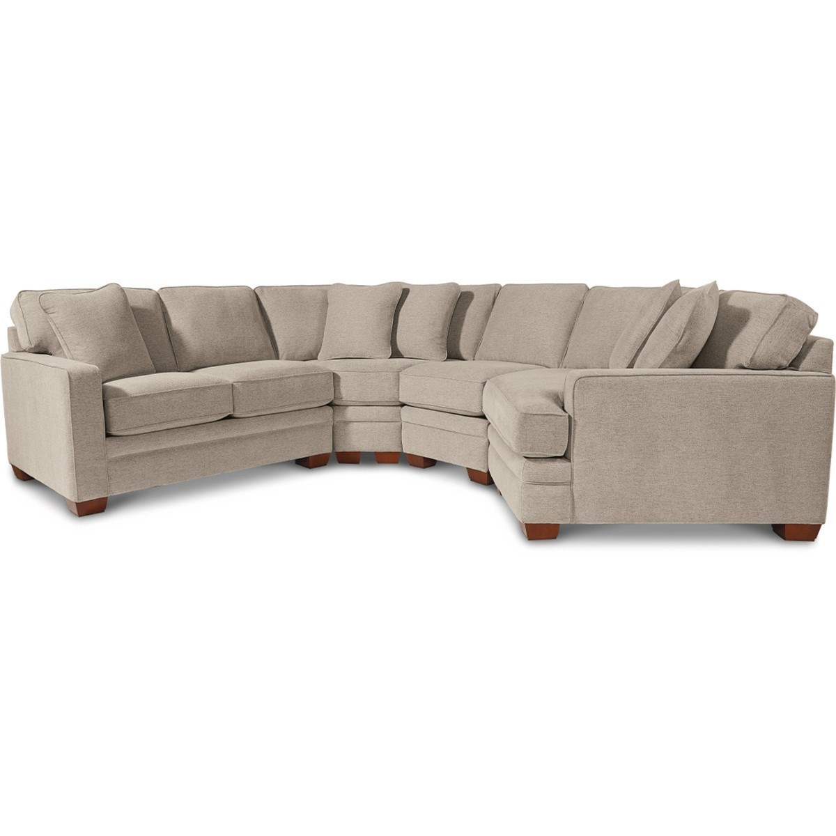 La Z Boy Meyer Contemporary 4 Piece Sectional With Left